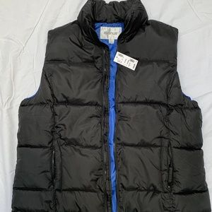 Women's Black Quilted Vest - size 14/16